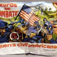 Figuras de Borracha e PVC: MONTAPLEX SOBRE GUERRA CIVIL AMERICANA INFANTERIA DEL NORTE NORDISTAS CONFEDERADOS YANKEES AMERICAN. Lote 197307597