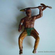 Figuras de Goma y PVC: FIGURA DE INDIO AMERICANO EN GOMA - -- GRANDE DE 9. CM. DE ALTURA. Lote 26603099