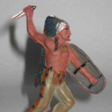 Figuras de Goma y PVC: ANTIGUA FIGURA DE INDIO DE GOMA - REAMSA BUEN ESTADO DE CONSERVACION. Lote 13733232