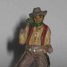 Figuras de Goma y PVC: ANTIGUA FIGURA DE COWBOY MANCO DE GOMA - BUEN . Lote 13734564