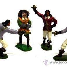 Figuras de Borracha e PVC: 3 MOSQUETEROS Y D ARTAGNAN A PIE STARLUX FRANCESES AÑOS 50. Lote 13820766
