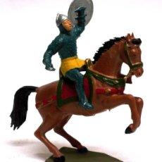 Figuras de Goma y PVC: MEDIEVAL A CABALLO STARLUX AÑOS 50. Lote 13934065
