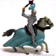 Figuras de Goma y PVC: MEDIEVAL A CABALLO STARLUX AÑOS 50. Lote 13934095