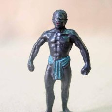 Figuras de Goma y PVC: FIGURA PLASTICO, NEGRO PORTEADOR, SERIE SAFARI TEIXIDO, . Lote 23051984