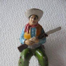Figuras de Goma y PVC: VAQUERO SENTADO.. Lote 25597613