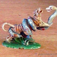 Figuras de Goma y PVC: FIGURA DE UN TIGRE LUCHANDO CON UNA SERPIENTE EN GOMA , DE PECH HERMANOS. Lote 18829193