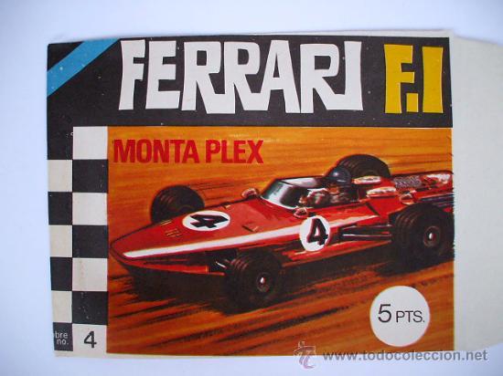 SOBRE MONTAPLEX ORIGINAL VACIO - Nº4 FERRARI F.1 - ESTADO IMPECABLE (Juguetes - Figuras de Goma y Pvc - Montaplex)