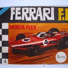 Figuras de Goma y PVC: SOBRE MONTAPLEX ORIGINAL VACIO - Nº4 FERRARI F.1 - ESTADO IMPECABLE. Lote 192012951