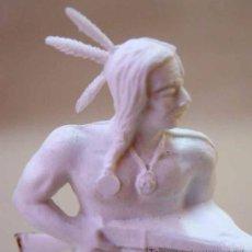 Figuras de Goma y PVC: FIGURA PLASTICO, INDIO, SIN PINTAR, GOMARSA (REAMSA), RESERVACION INDIA, . Lote 14302107
