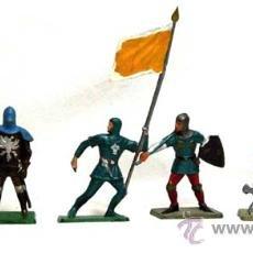 Figuras de Goma y PVC: 6 MEDIEVALES A PIE DE STARLUX AÑOS 60. Lote 14659142