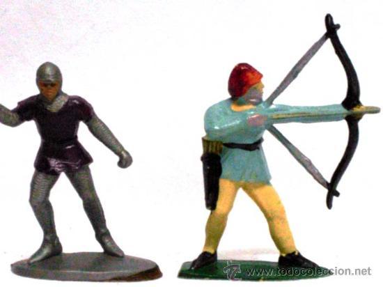 Figuras de Goma y PVC: 4 medievales a pie de Quiralu años 60 - Foto 3 - 14660981