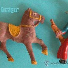 Figuras de Goma y PVC: CAPELL - FIGURAS GOMA AÑOS 50 - COWBOY CON CABALLO - MINIFIGURAS. Lote 27456576