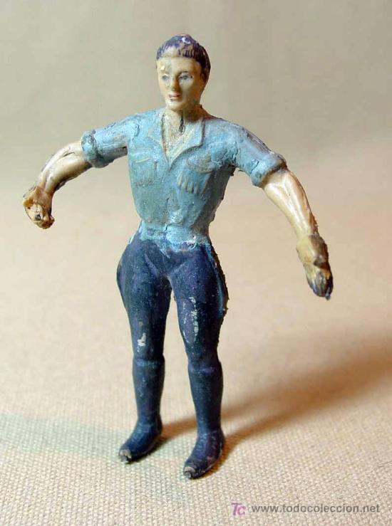 Figuras de Goma y PVC: FIGURA GOMA, 1º SAFARI ESPAÑOL, CAZADOR, FABRICADO POR ARCLA, - Foto 2 - 22932605