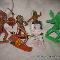 Figuras de Goma y PVC: 6 INDIOS VARIADOS ALGUNO CON DEFECTO. Lote 27637305