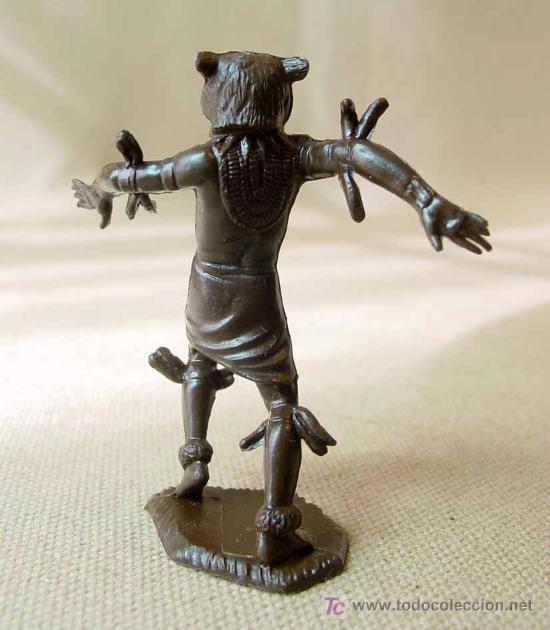 Figuras de Goma y PVC: FIGURA EN PLASTICO, SERIE DAKTARI, MARX TOYS, ORIGINAL, NATIVOS AFRICANOS, WITCH DOCTOR - Foto 2 - 15558160