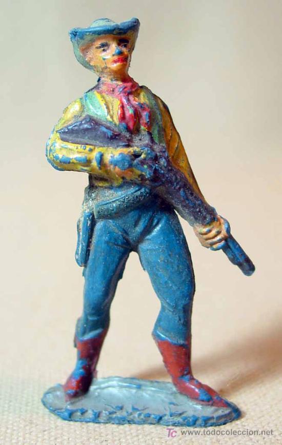 Figuras de Goma y PVC: RARA FIGURA DE GOMA, VAQUERO O COWBOY, PECH, , - Foto 2 - 15727767