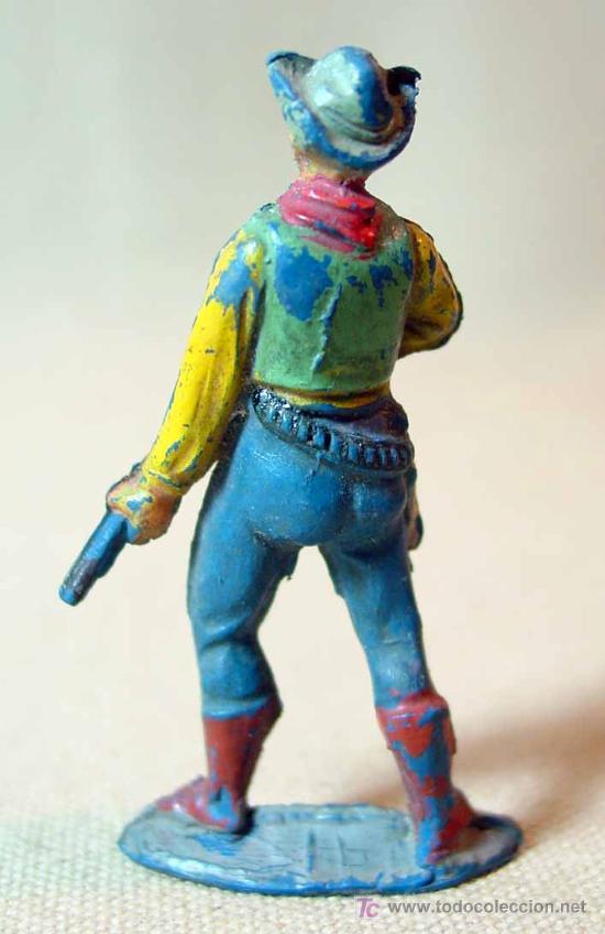 Figuras de Goma y PVC: RARA FIGURA DE GOMA, VAQUERO O COWBOY, PECH, , - Foto 3 - 15727767