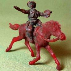 Figuras de Goma y PVC: RARA FIGURA PLASTICO, QUIOSCO, PIPERO, VAQUERO A CABALLO, , . Lote 15802587