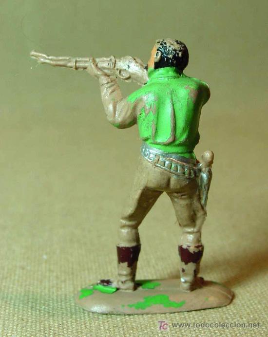 Figuras de Goma y PVC: FIGURA DE PLASTICO, CAZADOR, SERIE NEGROS Y SAFARI, PECH, - Foto 2 - 15797203