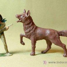 Figuras de Goma y PVC: RARA FIGURA PLASTICO, RIN TIN TIN, FABRICADO POR REIGON, . Lote 15857112