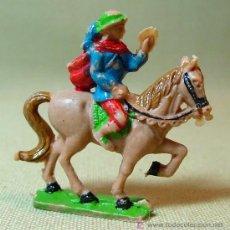 Figuras de Goma y PVC: FIGURA PLASTICO, PRINCIPE A CABALLO, EXIN CASTILLOS, . Lote 17954604