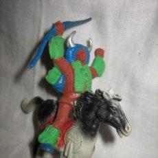 Figuras de Goma y PVC: INDIO A CABALLO DE LA CASA COMANSI. Lote 27137849