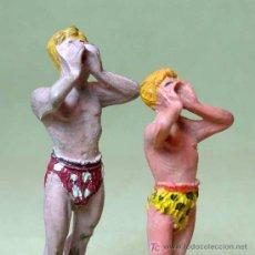Figuras de Goma y PVC: 2 FIGURAS DE GOMA, TARZAN Y BOY, # EL GRITO #, PECH HERMANOS, . Lote 16586479