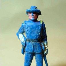 Figuras de Goma y PVC: RARA FIGURA PLASTICO, OFICIAL SEPTIMO 7º, YANKEE, JECSAN, 7 CM,, SERIE RIN TIN TIN, . Lote 17197562