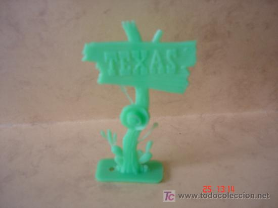 ANUNCIO TEXAS - PLASTICO - (Juguetes - Figuras de Goma y Pvc - Comansi y Novolinea)
