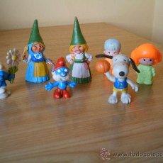 Figuras de Goma y PVC: MUÑECOS DE GOMA DAVID EL GNOMO SNOPY PITUFOS Y PIN Y PON. Lote 26757715