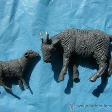Figuras de Goma y PVC: CABRA Y CABRITO - OLIVER/ PECH. Lote 27610687