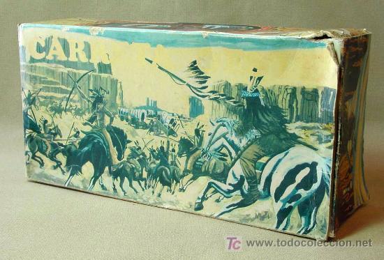 Figuras de Goma y PVC: CAJA VACIA, CARRETA OESTE, FABRICADO POR JUGUETES BENITO,, 1950s - Foto 2 - 18390094