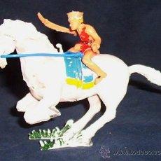 Figuras de Goma y PVC: SERIE COSACO VERDE - ESTEREOPLAST - COSACO A CABALLO - AÑOS 60. Lote 27373376