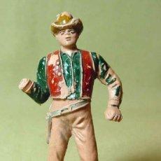 Figuras de Goma y PVC: FIGURA DE PLASTICO, COW BOY, VAQUERO, SERIE BONANZA, COMANSI, 70S, , MUTILADO. Lote 19048417