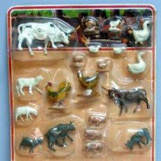 Figuras de Goma y PVC: BLISTER ANIMALES GRANJA NOVOLINEA COMANSI AÑOS 80. Lote 128338211