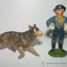 Figuras de Goma y PVC: ANTIGUAS FIGURAS CABO RUSTY Y RIN TIN TIN...AÑOS 50 - 60 --JECSAN. Lote 26719819