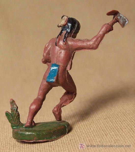 FIGURA DE GOMA, INDIO CON TOMAHO, FABRICADO POR ASTER, (Juguetes - Figuras de Goma y Pvc - Jecsan)