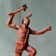 Figuras de Goma y PVC: FIGURA DE PLASTICO, INDIO, FABRICADO POR JECSAN, , 1970S. Lote 20013351
