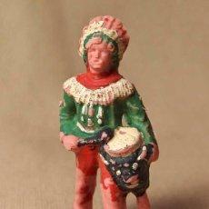 Figuras de Goma y PVC: FIGURA DE PLASTICO, JEFE INDIO, FABRICADO POR REAMSA, , 1970S. Lote 20013457
