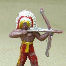 Figuras de Goma y PVC: FIGURA DE PLASTICO, JEFE INDIO, MINI OESTE, MINI COMANSI, COMANSI, 1970S. Lote 20106768