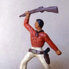Figuras de Goma y PVC: FIGURA DE PLASTICO, COW BOY, VAQUERO, FABRICADO POR STARLUX, , 1960S, FRANCIA. Lote 20134893