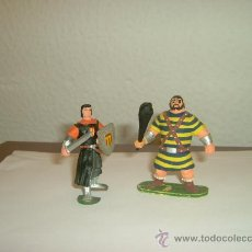 Figuras de Goma y PVC: JIN.ESTEREOPLAST GOMA.CAPITAN TRUENO CON ESCUDO Y ESPADA Y GOLIAT. Lote 44276956