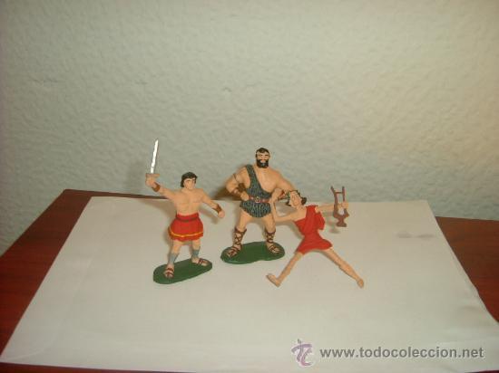 ESTEREOPLAST GOMA JABATO Y TAURUS. CON FIDEO DE MILETO. (Juguetes - Figuras de Goma y Pvc - Estereoplast)
