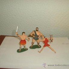 Figuras de Goma y PVC: ESTEREOPLAST GOMA JABATO Y TAURUS. CON FIDEO DE MILETO.. Lote 27298913