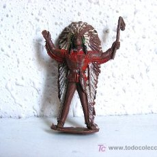 Figuras de Goma y PVC: INDIO GRANDE DE PLASTICO, . Lote 20601275