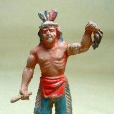 Figuras de Goma y PVC: MARAVILLOSA FIGURA DE GOMA, INDIO, FABRICADO POR LAFREDO, 1950S, NO JECSAN. Lote 20638666