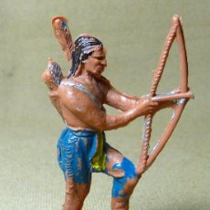 Figuras de Goma y PVC: FIGURA DE PLASTICO, INDIO, FABRICADO POR JECSAN, 1970S, . Lote 20639255