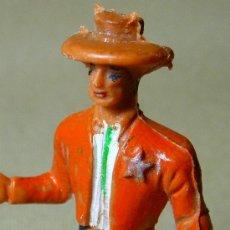 Figuras de Goma y PVC: FIGURA DE PLASTICO, SHERIFF, COW BOY, FABRICADO POR COMANSI, 1970S, . Lote 20648533