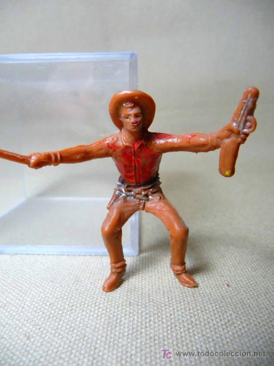 Figuras de Goma y PVC: FIGURA DE PLASTICO, CARRETA, COW BOY, FABRICADO POR COMANSI, 1970s, - Foto 4 - 20648572