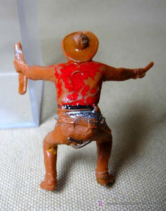 Figuras de Goma y PVC: FIGURA DE PLASTICO, CARRETA, COW BOY, FABRICADO POR COMANSI, 1970s, - Foto 3 - 20648572